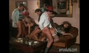 Little fuckfest in an italian vintage porn movie scene
