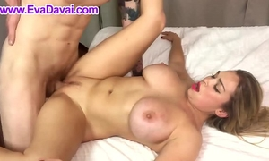Eva davai screwed by a tattooed stud