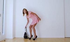 Shy college slutwife has 1st dark ramrod during rap episode auditions