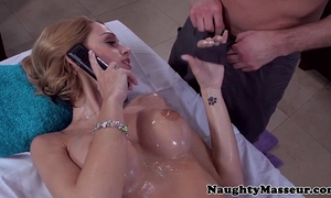 Erica fontes arse drilled during massage