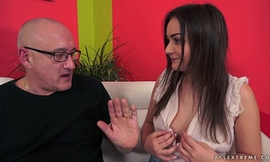 Anina silk screwed by an old dude