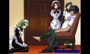 Young anime slutwife blowjobs hard ramrod
