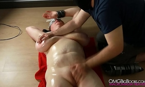 Busty thrall snatch fingered by her corporalist