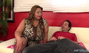 Big titty bbw miss lingling rides a rod