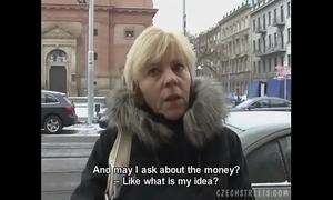 Czech milf gives a head for a lascivious shlong