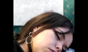Girl sleeping fetish in educate spy dormida en tren