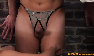 Office cfnm femdom toying studs booty