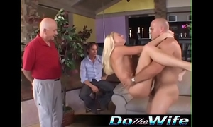 Husband watches golden-haired Married slut fuck some other guy
