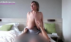 Barbara intensive big tit grabs