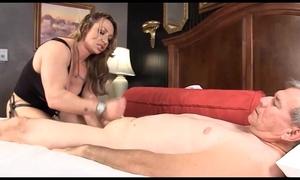 Muscle dominatrix-bitch brandimae teaches obscene old guy lesson #2