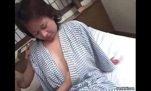 Asian granny enjoys 3some fucking