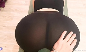 Big a-hole with leggings, pov oral-stimulation and sex - cristall gloss