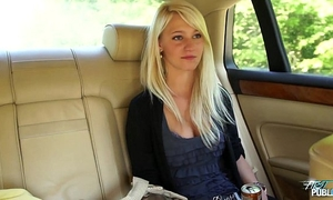 Myfirstpublic slutwife leans out car window to engulf dong
