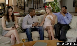 Blacked 1st interracial three-some for sydney cole