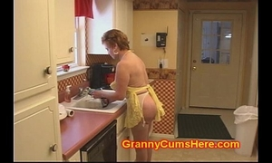 Granny wench screwed in her kitchen by bbc