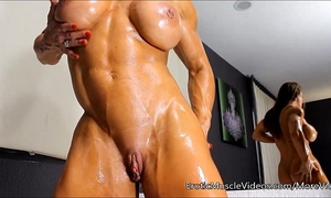 Eroticmusclevideos oiling carnal female muscles