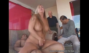Spanish milf swinger finds stranger sex