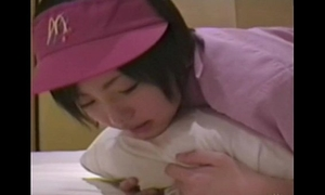 Japanese dirty slut wife ( 18) with mcdonald's uniform 002