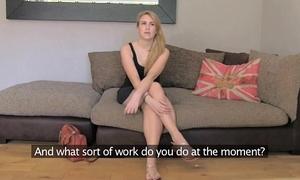 Fakeagentuk dilettante tattooed model hopeless to receive into porn