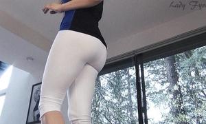 White yoga panties wazoo worship leg tease black cock slut fyre