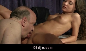 Old teacher fucking juvenile sexually excited student honey