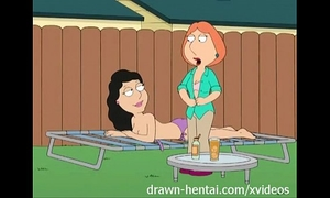 Family dude manga - backyard lesbian babes