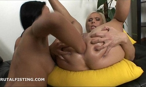 Gorgeous milena double fists cute allies cunt and booty