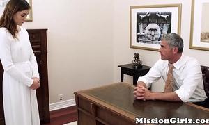 Mormon elder inspects virgin slit previous to fingerfucking her