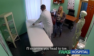 Fakehospital dizzy juvenile golden-haired takes a creampie from doctor