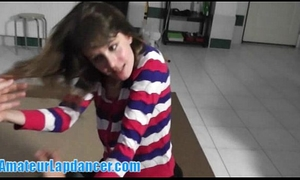 Lapdance, bj, and fingering with cute legal age teenager