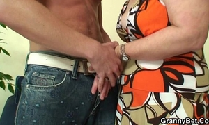 Lonely granny receives drilled in various positions