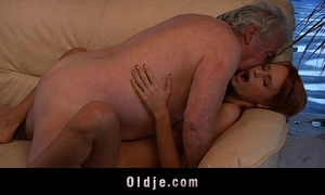 Grandpa favourable to fuck a hawt youthful redhead sweetheart