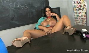 Big titted latin babe angelina castro in classroom?!