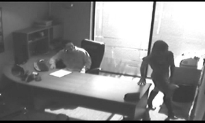 Office tryst acquires caught on cctv and oozed