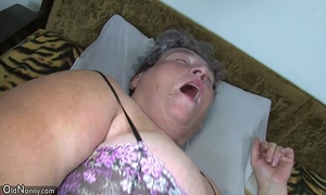 Old plump mama teaches her plump younger woman masturbating use sex tool