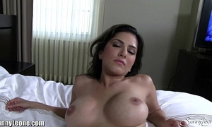 Sunny leone at a luxuruous hotel in white underware