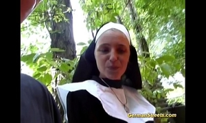 Crazy german nun can't live without penis