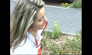 Pick up german blond for her 1st anal