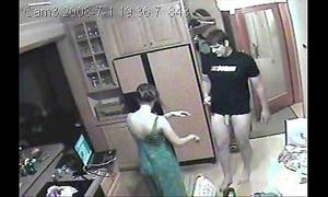 Girlfriend having sex on hidden camera non-professional