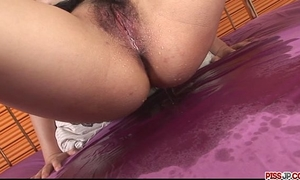 Hot and breasty dark brown chick in underware caressed and screwed