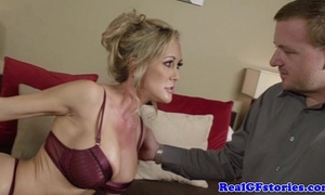 Milf with bigboobs bonks and sucks dong