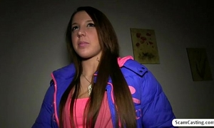 Brunette sweetheart anita gains money and receives drilled doogystyle by a fake agent