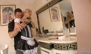 Blonde maid acquire fuck