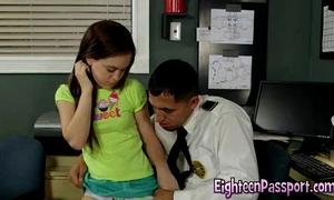 Tight legal age teenager seduces lewd dude