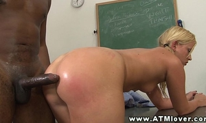Hottest golden-haired a-hole riding dick with her taut a-hole