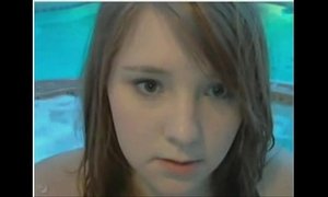 Chubby legal age teenager in jacuzzi
