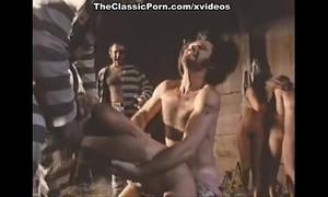 Prisoners have a hard sex with black cock slut