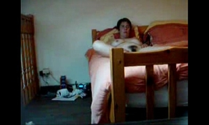 Hidden livecam catches my shaggy mamma fingering on ottoman