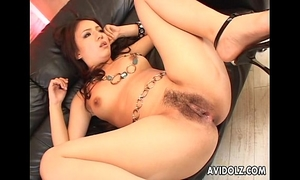 Hairy love tunnel oriental nailed super hard