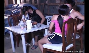 Asian legal age teenagers screwed outdoor